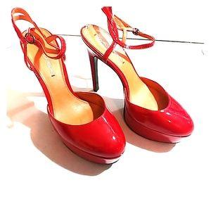 Via Spiga Red Daffodil platfrom heels. Worn once